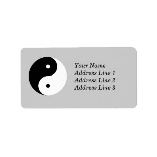 Yin Yang Name Address Mailing Or Name Tag Label at Zazzle