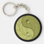 Yin Yang Nature Basic Round Button Keychain