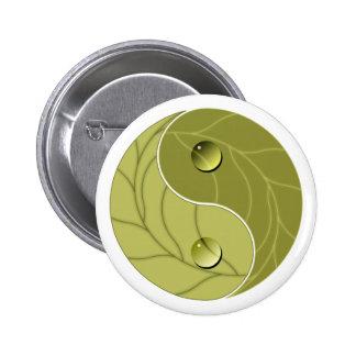 Yin Yang Nature Pinback Button