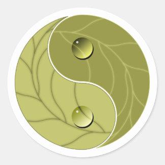 Yin Yang Nature Classic Round Sticker