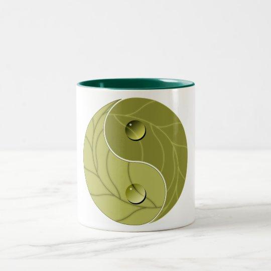 Yin Yang Nature Two-Tone Coffee Mug