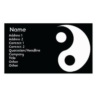 Yin Yang - negocio Tarjetas De Visita