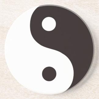 Yin-Yang-Negro/blanco Posavasos Personalizados