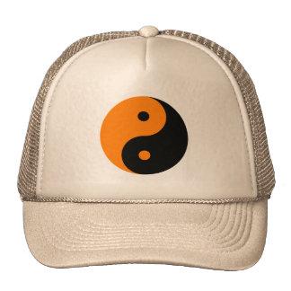 Yin Yang - negro del naranja Gorro