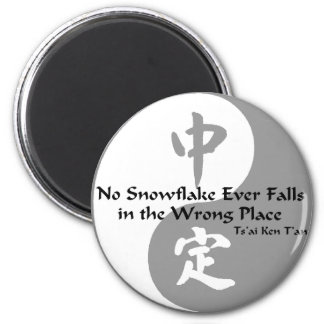 Yin Yang - No Snow Flake Magnet