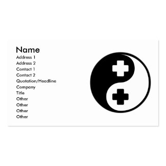 Yin Yang Nursing Double-Sided Standard Business Cards (Pack Of 100)