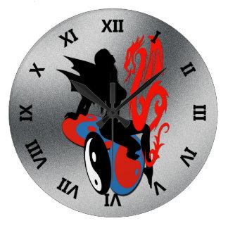 Yin Yang Nymph Wall Clocks