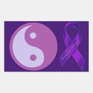 Yin & Yang of Chronic Pain Rectangular Sticker