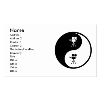 Yin Yang Operating a Camera Double-Sided Standard Business Cards (Pack Of 100)