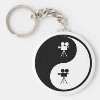 Yin Yang Operating a Camera Keychain