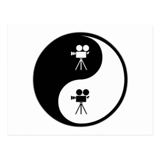 Yin Yang Operating a Camera Postcard