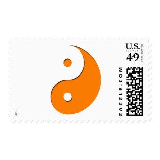 Yin Yang - orange 1 Stamp