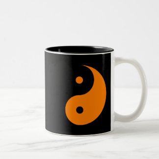 Yin Yang - orange (2) Two-Tone Coffee Mug