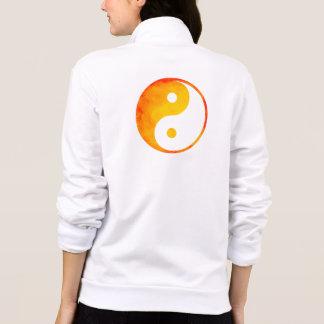 Yin Yang Orange and Yellow Watercolor Chinese Jacket
