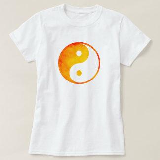 Yin Yang Orange and Yellow Watercolor Chinese T-shirt