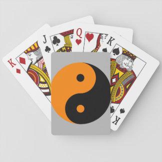 Yin Yang - orange black Deck Of Cards