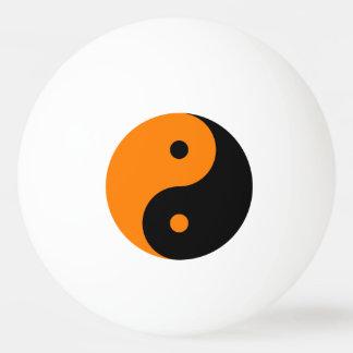 Yin Yang - orange black Ping Pong Ball