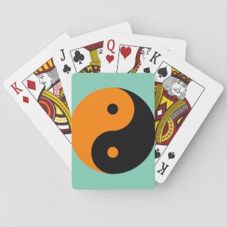 Yin Yang - orange black Poker Deck
