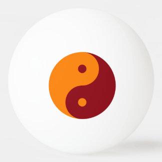 Yin Yang - orange red Ping-Pong Ball