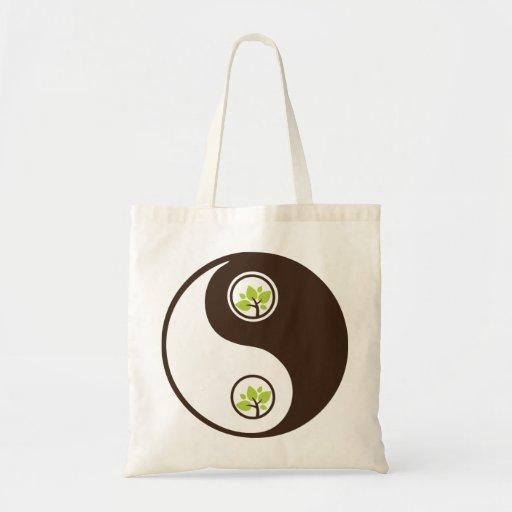 Yin Yang Organic Planet Canvas Bags