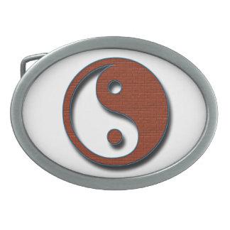 Yin Yang Oval Belt Buckle