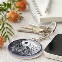 Yin Yang Owls Keychain