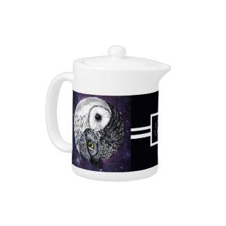 Yin Yang Owls Teapot