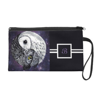 Yin Yang Owls Wristlet Purse