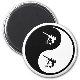 Yin Yang Paintball 2 Inch Round Magnet