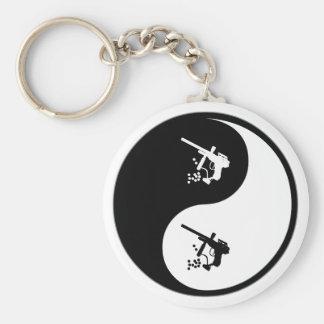 Yin Yang Paintball Basic Round Button Keychain