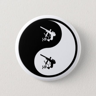 Yin Yang Paintball Pinback Button