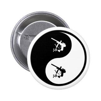 Yin Yang Paintball Pinback Button
