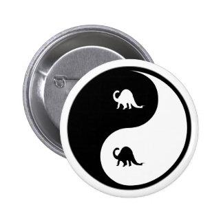 Yin Yang Paleontology Pinback Button