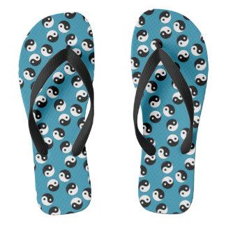 Yin Yang Pattern Flip Flops