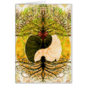 Yin Yang Pattern with Tree of Life Card (<em>$2.60</em>)