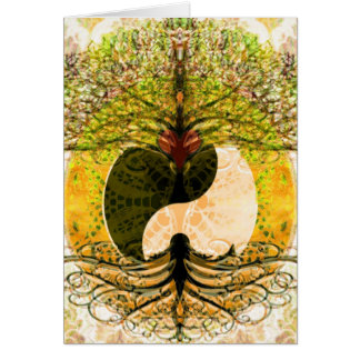 Yin Yang Pattern with Tree of Life Card