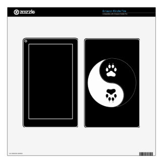 Yin Yang Paw Print Decals For Kindle Fire