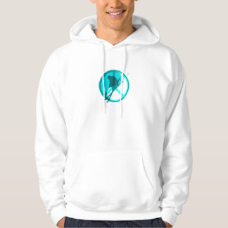 yin yang peace skiing hoodie