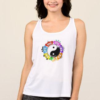yin yang Peek-A-Boo Crew@ Planet Peek-A-Boo Tank Top