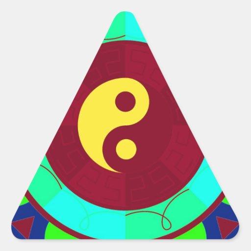 ¡Yin Yang! Calcomanías De Triangulos Personalizadas