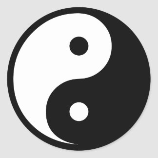Yin Yang Etiquetas Redondas