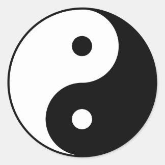 Yin Yang Pegatina Redonda