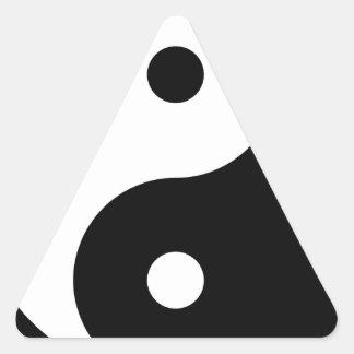 Yin Yang Pegatina Triangular
