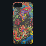 "Yin Yang Phoenix and Dragon iPhone 7 Case<br><div class=""desc"">Colorful Yin Yang artwork of a Phoenix and Dragon with red,  yellow,  green,  blue,  purple,  gold,  black and white. Coordinates with Yin Yang Running virtual run medal on our website,  Virtual Run World,  http://virtualrunworld.com</div>"