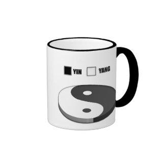 Yin Yang Pie Chart Ringer Coffee Mug