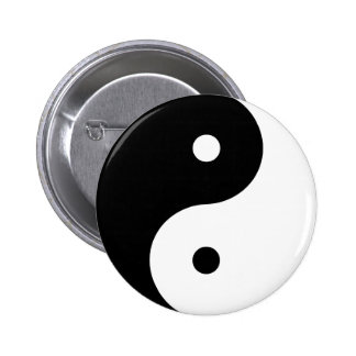 Yin Yang Pin Redondo De 2 Pulgadas