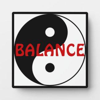 Yin-Yang - placa de la balanza