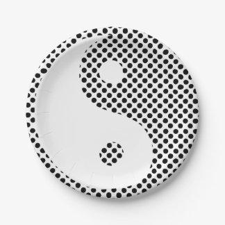 Yin Yang - placas de papel del lunar Platos De Papel