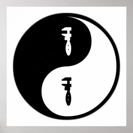 Yin Yang Plumbing Poster