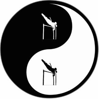 Yin Yang Pole Vaulting Cut Out